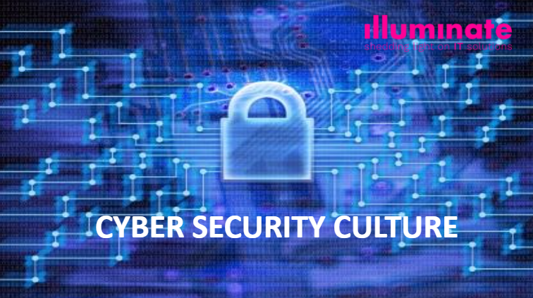 Blue lock with title Cyber Security Culture